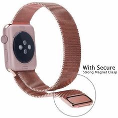 Apple Watch Band, Sanberd Milanese Loop Stainless Steel Bracelet Strap Replacement Wrist Band for Apple Watch with Magnet Vintage Gold Milanese) Apple Watch 42mm, Best Apple Watch, Gold Apple Watch, Apple Watch Series 2, Apple Watch Bands, Sport Watches, Watches For Men, Gold Watches, Iphone 7