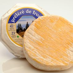 Reblechon Prefere De Fromi. A cows' milk cheese from Haute-Savoie is protected by a thick, velvety, brine-washed rind, and is aged at higher temperatures, allowing for optimal flavor development. The woodsy, hay and sweet milk notes crescendo into a robust, yeasty experience, leaving a lingering, beefy pungency on your palate. ***Did not like this one.