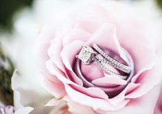 Lovely wedding ring shot on pink rose. View more from this timeless pink wedding in the Tri-Cities by @kadeesapproach! | The Pink Bride® www.thepinkbride.com