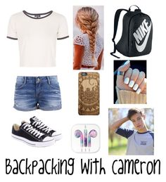 """""""Cameron Dallas"""" by magcon-fashion ❤ liked on Polyvore featuring Topshop, Converse and NIKE"""