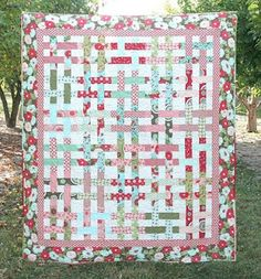 Love this basket weave quilt.
