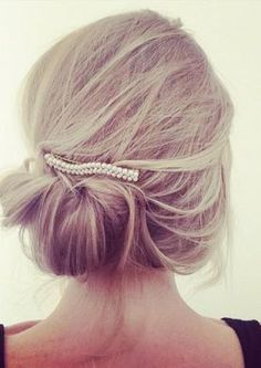 Sweet low bun with accessory - LadyStyle