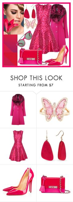 """""""poised"""" by hanisi ❤ liked on Polyvore featuring Blumarine, Luna Skye, Oscar de la Renta, Kim Rogers, Christian Louboutin, Moschino and Givenchy"""