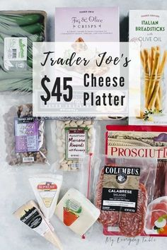 I'll show you just How To Make a Trader Joe's Cheese Platter. I've included how to choose your ingredients, how to arrange them, what kind of boards to use, and give two different price options. Charcuterie Recipes, Charcuterie Platter, Charcuterie And Cheese Board, Cheese Boards, Charcuterie Wedding, Snack Platter, Kinds Of Cheese, Meat And Cheese, Meat Cheese Platters