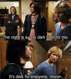 The night is a very dark time for me