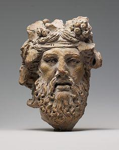 Terracotta head of Dionysos (1st century BC), Greek