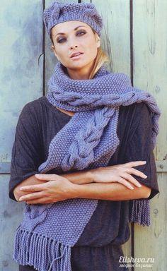 Вязание спицами шапок, шарфов, шаль » Страница 4