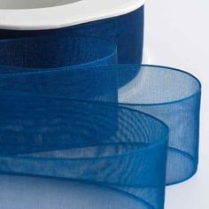 Royal Blue Organza Ribbon with Woven Edge perfect for wedding favours and decoration Make Your Own Wedding Invitations, Burlap Lace, Organza Ribbon, Wedding Favours, Wedding Supplies, Shades Of Blue, Royal Blue, Sewing Crafts, Color Schemes