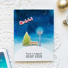 heroarts_christmascard_may October My Monthly Hero Kit from Hero Arts. Christmas Cards 2017, Christmas Scenes, Xmas Cards, Holiday Cards, Hand Made Greeting Cards, Greeting Cards Handmade, Hero Arts Cards, Card Making Inspiration, Winter Cards