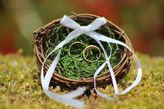 Bird Nest Ring Bearer Kissen rustikal-Woodland - Zweig Nest Kissen - Ring Kissen Landhaus Chic Bauernhochzeit on Etsy, 10,14€