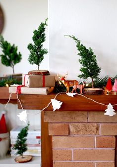 DIY Fresh Mini Christmas Trees (from Tree Lot Scraps!)