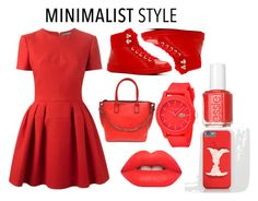 """""""Chic Minimalist Style"""" by iouzzani on Polyvore featuring Alexander McQueen, ALDO, Lacoste, Lime Crime, Essie and Minimaliststyle"""