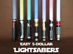 THe one on the left is black! DARKSABER SNITCHES! ~ Picture of Easy $5 Lightsabers