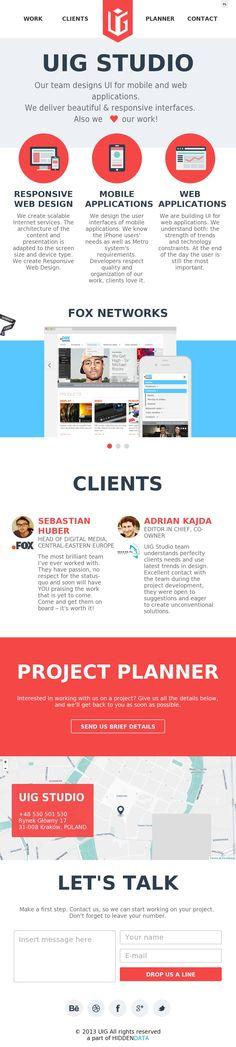 The website 'http://uigstudio.com/' courtesy of @Pinstamatic (http://pinstamatic.com)