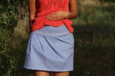 Jupe 1001 Perles version C, patron de couture Ivanne.S - by Sandra'shand