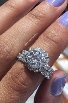 Engagement Rings : Picture Description 10 Fresh Engagement Ring Trends For 2018 ❤️ engagement ring trends floral ring pave band white gold ❤️ See more: www. Engagement Ring Photos, Perfect Engagement Ring, Pave Ring, Diamond Rings, Custom Wedding Rings, Bridesmaid Jewelry Sets, Bridal Sets, Diamond Are A Girls Best Friend, Or Rose