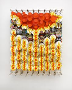 4) Jacob Hashimoto, The Father of All Dragonslayers, 2012, bamboo, paper, dacron, acylic, 92 x 72 x 20 cm