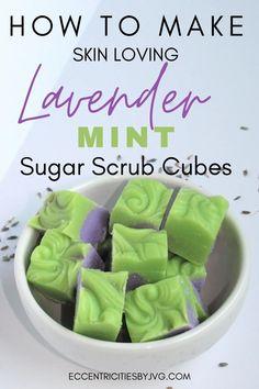 Sugar Scrub Cubes, Sugar Scrub Recipe, Sugar Scrub Diy, Sugar Soap, Sugar Scrubs, Butter Recipe, Handmade Soap Recipes, Soap Making Recipes, Diy Body Scrub