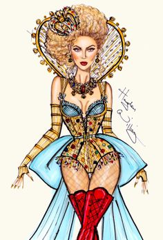 #Hayden Williams Fashion Illustrations:    Beyoncé Mrs. Carter World Tour collection by Hayden Williams