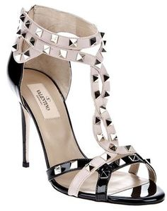 eb9e8d2d192 Black and white studded sandals by Valentino. Valentino Studded  SandalsValentino High HeelsValentino RockstudRockstud ShoesHigh ...