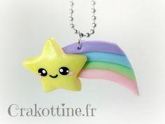 Collier falling star kawaii