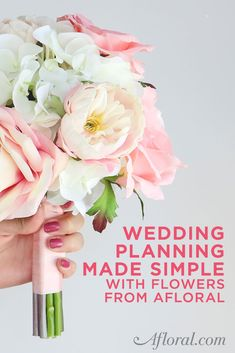 Newly Engaged? Planning a wedding? Keep your wedding planning simple with flowers from Afloral.com