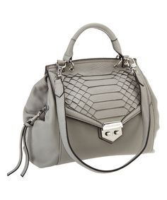 2b24f9287b Loving this Storm Gray Pebbled Leather Crossbody Satchel on  zulily!   zulilyfinds Pebbled Leather