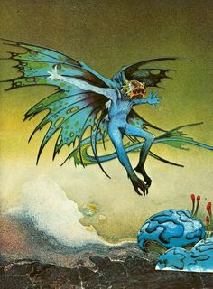 Roger Dean - Blue Demon, 1976.