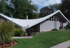 Double Hyperbolic Paraboloid. Love this interesting mid-century home.