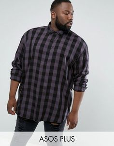 Get this Asos's plaid shirt now! Click for more details. Worldwide shipping. ASOS PLUS Oversized Viscose Check Shirt - Grey: Shirt by ASOS PLUS, Lightweight woven fabric, Check print, Point collar, Button placket, Oversized fit - falls generously over the body, Machine wash, 100% Viscose, Our model wears a size XXXL Regular and is 185.5cm/6'1 tall. For styles to survive the season, ASOS PLUS has you covered. Pick up denim for the new year, tees and sweats in a variety of shapes and sizes…