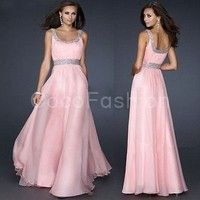 Wish | Sexy Sequins Pink Chiffon Evening Party Gown Formal Bridesmaid Dress