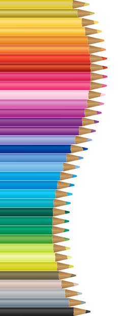 Pencils Decor PNG Vector Clipart