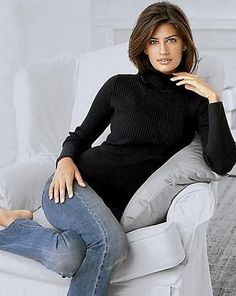 black sweaters are always so Chic with jeans or whatever pants you put on.