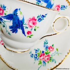 A personal favorite from my Etsy shop https://www.etsy.com/ca/listing/583226817/royal-stafford-blue-bird-antique-tea-cup