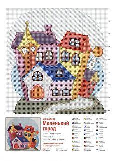 Вышивка крестом - дома Cross Stitch House, Cross Stitch Art, Beaded Cross Stitch, Counted Cross Stitch Kits, Modern Cross Stitch, Cross Stitch Designs, Cross Stitching, Cross Stitch Embroidery, Embroidery Patterns