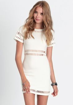$48Right Through You Cutout Dress 48.00 at threadsence.com