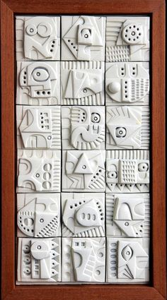 Terracotta Wall Sculpture by Ron Hitchens thumbnail 1