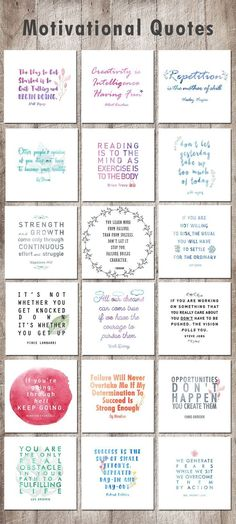 Six Printable Inspirational Quotes - Cricut Ideas and Tutorials - motivational quotes, inspiring quotes, motivational quotes printable - Life Planner, Happy Planner, Quotes For Planner, School Planner, Encouragement, Bulletins, School Looks, Affirmations, Wise Words