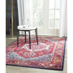 Safavieh Monaco Red/ Turquoise Rug (5'1 x 7'7)