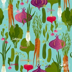 Daily Pattern Project Lindsay Nohl Us? Food Patterns, Textures Patterns, Print Patterns, Organic Patterns, Plant Illustration, You Draw, Textiles, Food Illustrations, Repeating Patterns