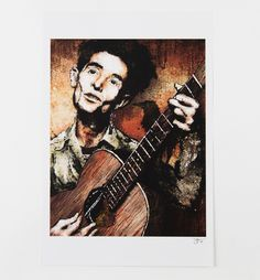 An American icon, Woody Guthrie, elegantly presented here by Tulsa's own Boxing Bear Print Co.   Printed on 70 lb. semi-gloss poster stock.
