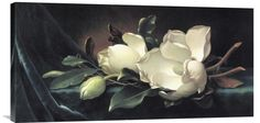 buy Feng Shui wall art painting Magnolia Blossom On Blue Velvet at www.explosionluck.com