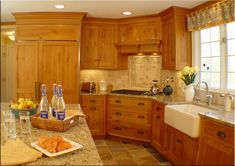 Honey Oak Kitchens | pictures of kitchens with honey oak cabinet and granite - Kitchens ... another one that I really like. Island is best bet for me.