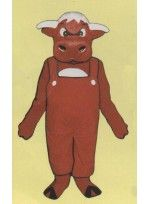 Mascot costume #709A-Z Angry Bull w/ Overalls