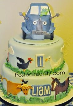 Frosted Insanity: Little Blue Truck cake