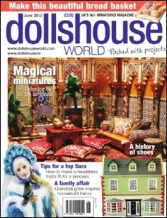 Issue 237 of Dolls House World features two roomboxes; a seventies student bedroom (including cut outs!) and a Spanish mosque. Download today for £2.99. Nicole Klauss takes a look at Pei Li's mini sweet treats and there's a soleful feature on the history of shoes.
