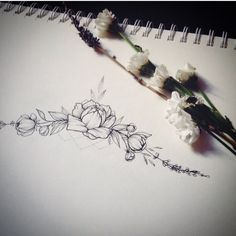 48 ideas flowers peonies drawing for 2019 – foot tattoos for women flowers Delicate Flower Tattoo, Small Flower Tattoos, Flower Tattoo Designs, Small Tattoos, Peony Flower Tattoos, Pretty Tattoos, Love Tattoos, Body Art Tattoos, Tatoos