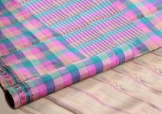 Mauve, #blue, #lemon #yellow - Pastels Galore, and look stunning in this checked drape.