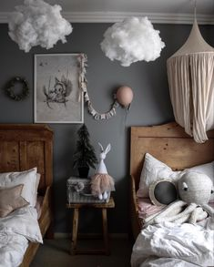 diy home decor bedroom small rooms Kids Room Inspiration Baby Bedroom, Girls Bedroom, Cloud Bedroom, Childs Bedroom, Nursery Decor, Bedroom Decor, Ikea Bedroom, Bedroom Furniture, Bedroom Ideas