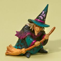 2013 Jim Shore, Mini Witch with Broom Figure